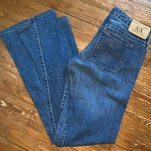 Women's Armani Exchange 8 jeans flare bell bottom